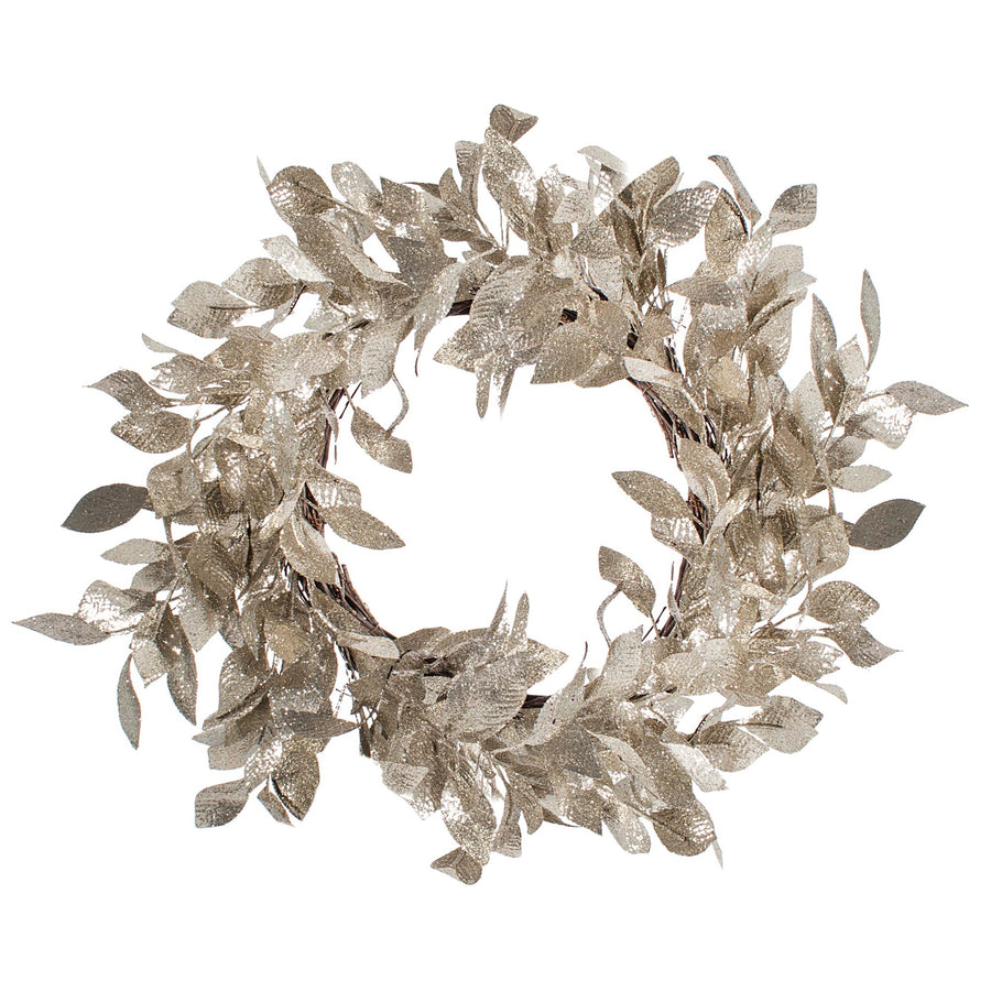 Silver Leaves Wreath