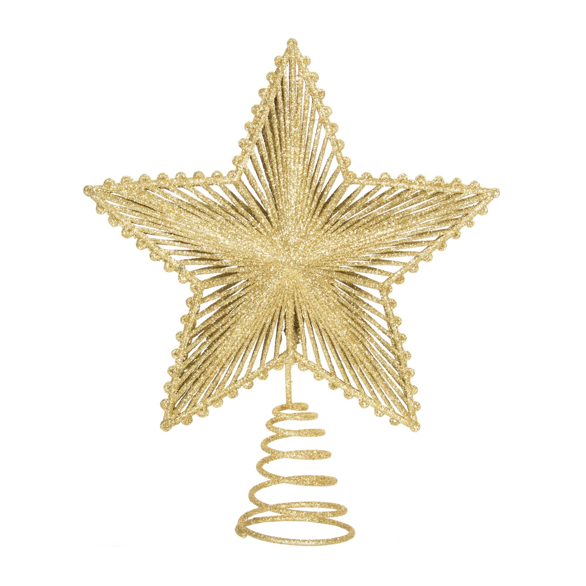 Gold Star Tree Topper - Putti Christmas Celebrations