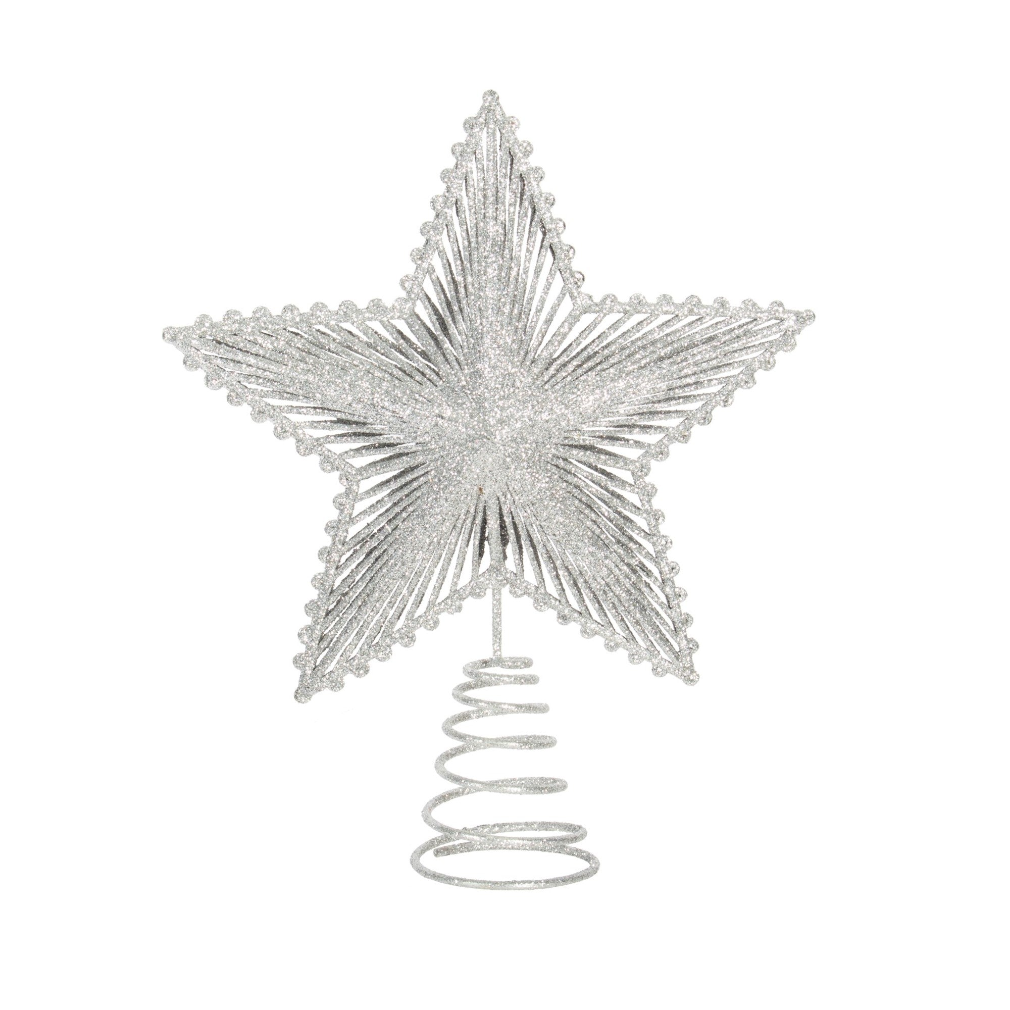 Silver Star Tree Topper - Putti Christmas Celebrations