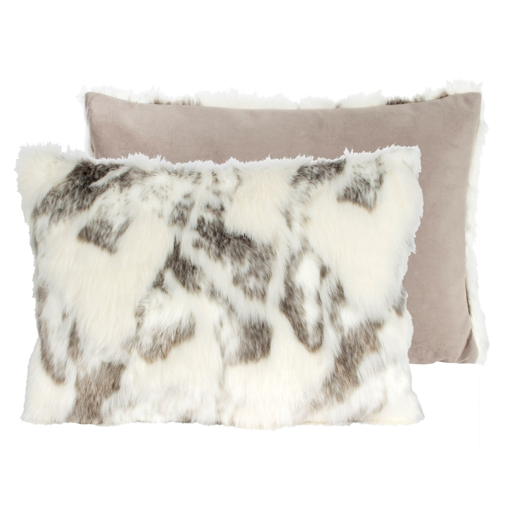 Arctic Fox Faux Fur Pillow - Rectangular-Soft Furnishings-CF-Canfloyd-Putti Fine Furnishings