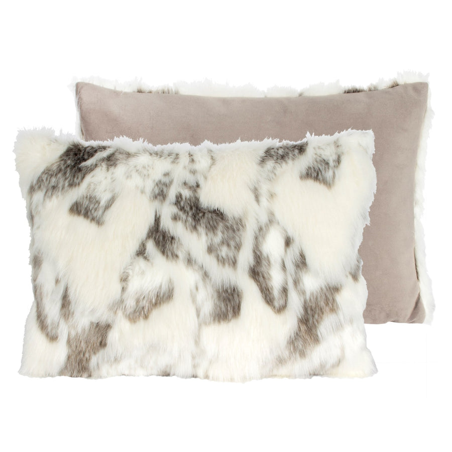 Arctic Fox Faux Fur Pillow - Rectangular