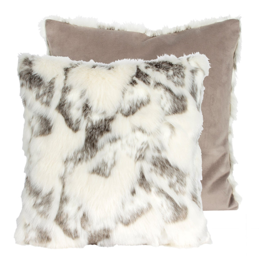 Arctic Fox Faux Fur Pillow - Square