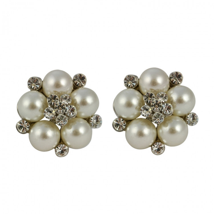 Lovett & Co Audrey Clip on Pearl Stud Earrings, L&C-Lovett & Co., Putti Fine Furnishings