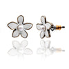 Lovett & Co Sweet Lilac Flower Stud Earrings White