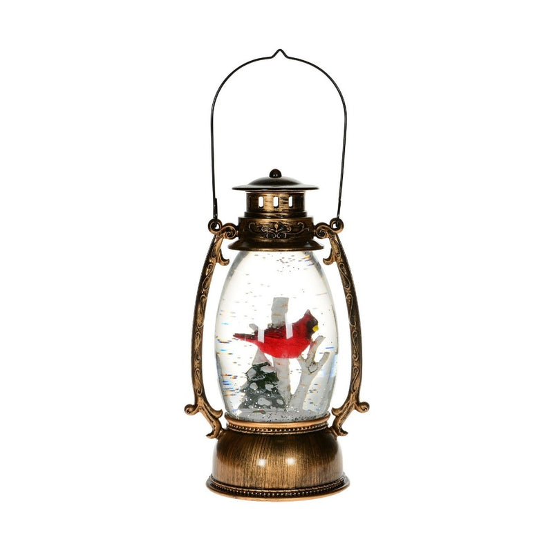 Rustic Cardinal Shimmer Lantern LED Light | Putti Christmas Celebrations