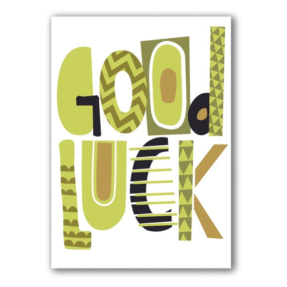 Good Luck Greeting Card, JE-Jannex Enterprises, Putti Fine Furnishings