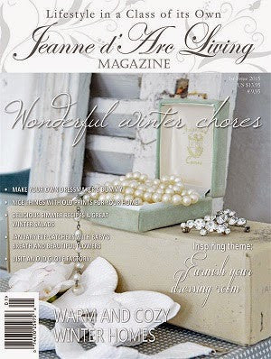 Jeanne d'Arc Living Magazine January 2015 1st edition, Jeanne d'Arc Living, Putti Fine Furnishings