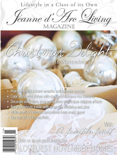 Jeanne d'Arc Living Magazine November 2015 11th edition, Jeanne d'Arc Living, Putti Fine Furnishings