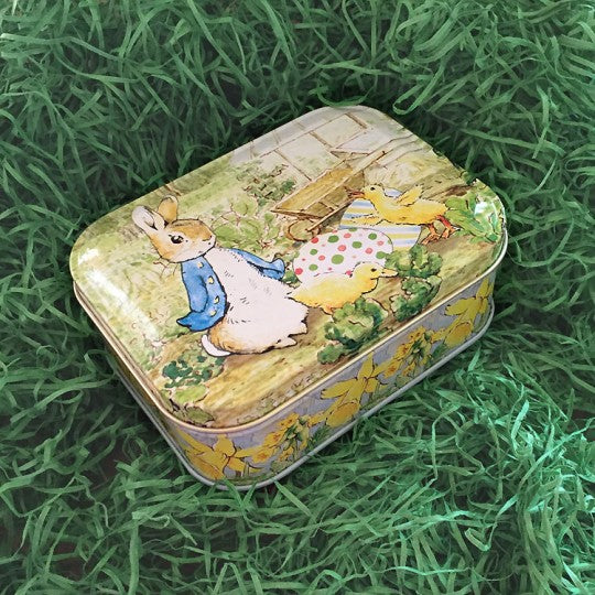 Rectangular Peter Rabbit Easter Tin | Putti Fine Furnishings