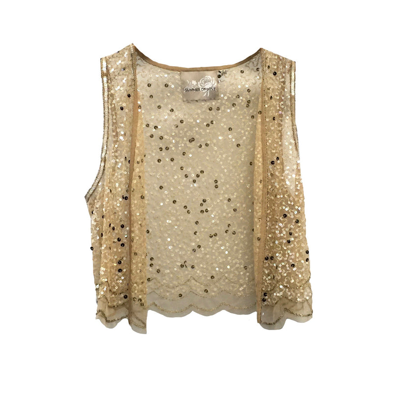 "Summer of Love ""Emanuel"" Sequin Chiffon Vest, SOL-Summer of Love, Putti Fine Furnishings"