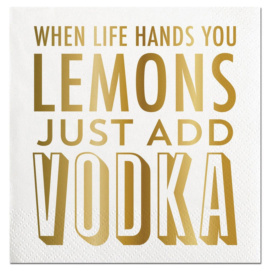 """When life hands you lemons..."" Paper Napkins - Beverage, SC-Slant Collections, Putti Fine Furnishings"