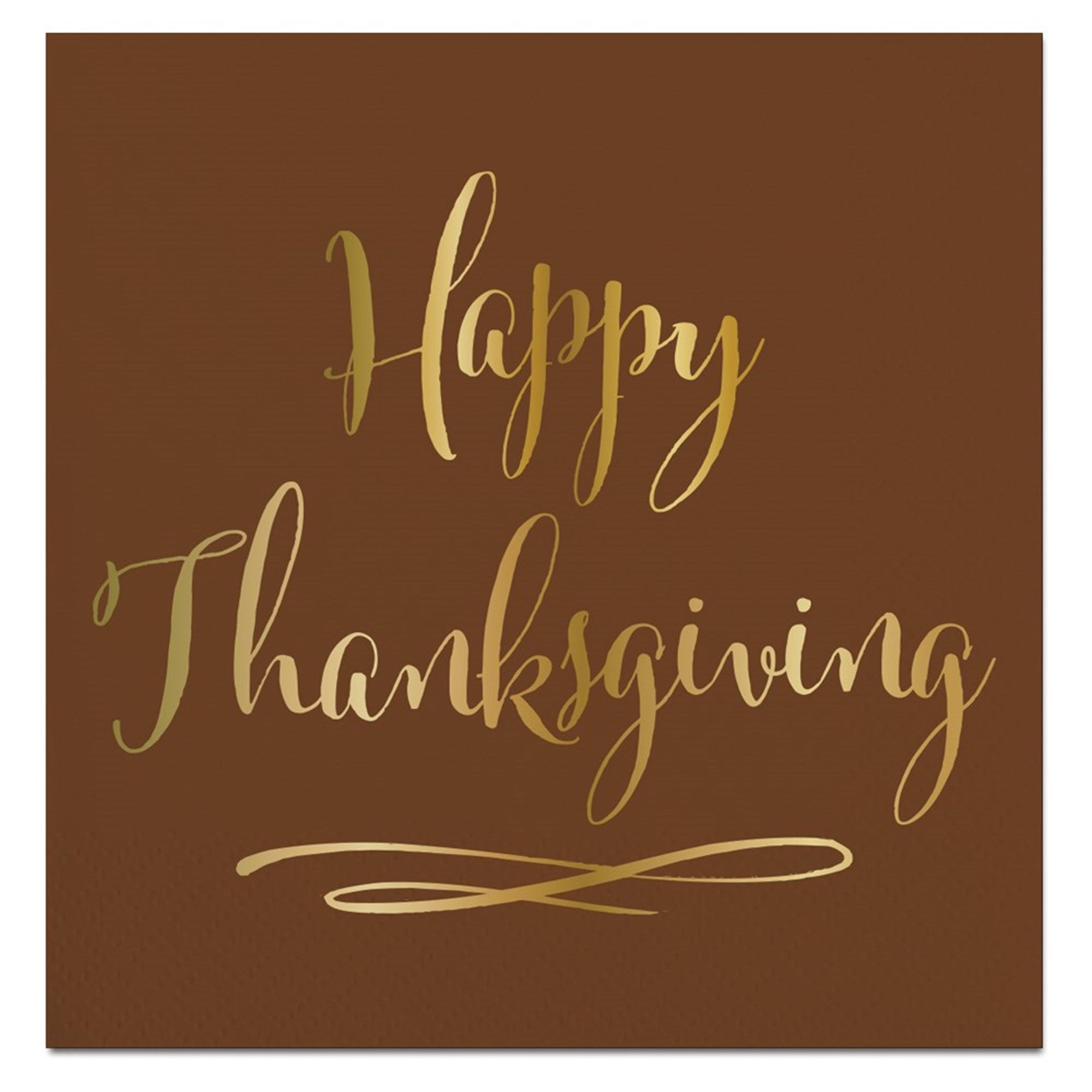 """Happy Thanksgiving"" Paper Napkins - Beverage, SC-Slant Collections, Putti Fine Furnishings"