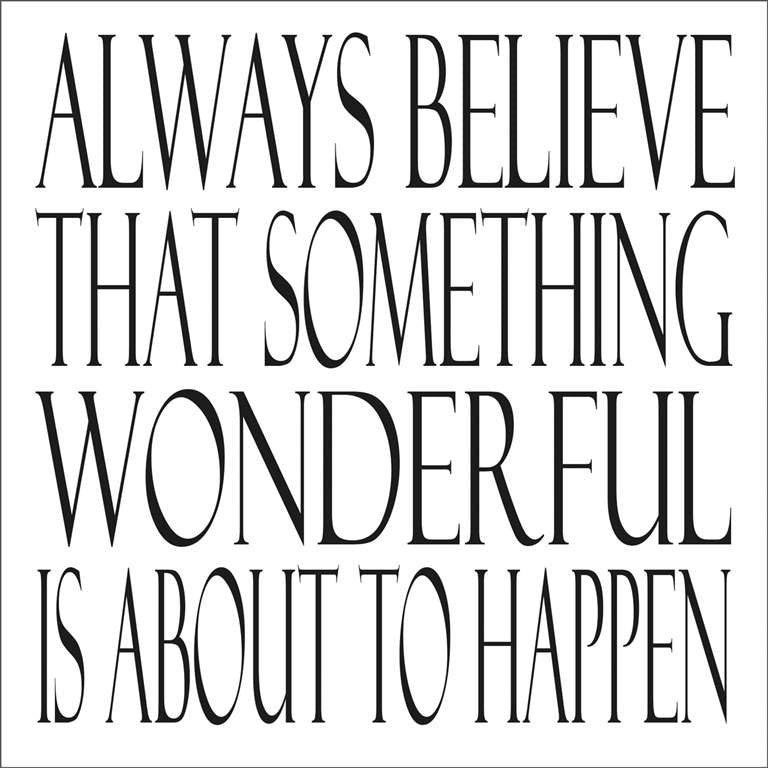 """Always believe Something Wonderful..."" Greeting Card, Piano, Putti Fine Furnishings"