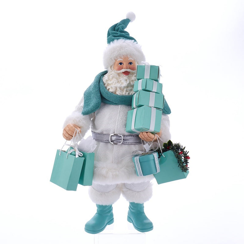 Kurt Adler Tiffany's Shopping Santa | Putti Christmas Canada