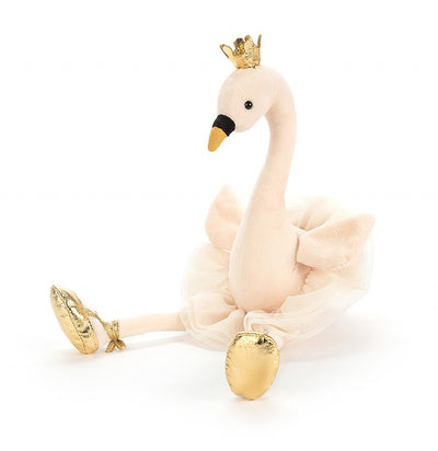 "Jellycat ""Fancy Swan"" Soft Toy, JC-Jellycat UK, Putti Fine Furnishings"