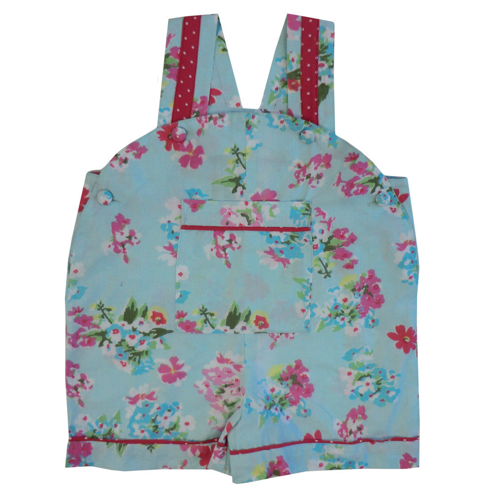 """Blue Floral"" Dungarees, PC-Powell Craft Uk, Putti Fine Furnishings"