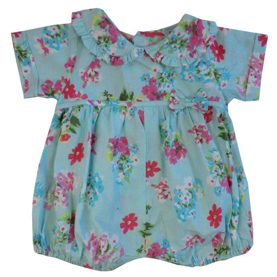 """Blue Floral"" Romper, PC-Powell Craft Uk, Putti Fine Furnishings"