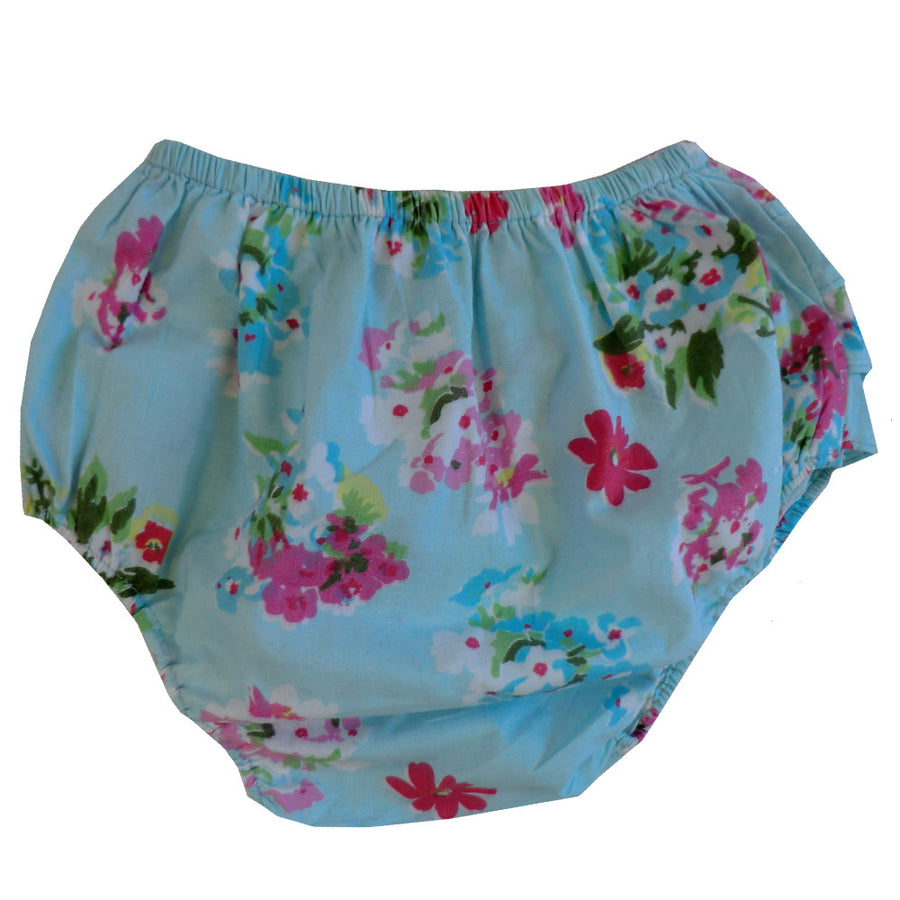 """Blue Floral"" Frilly Nickers"