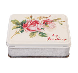 """My Jewelry"" Rose Tin -  Jewelry Box - RJB Stone - Putti Fine Furnishings Toronto Canada - 3"