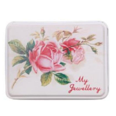 """My Jewelry"" Rose Tin -  Jewelry Box - RJB Stone - Putti Fine Furnishings Toronto Canada - 1"
