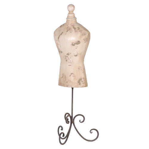 Mannequin on wrought Iron Stand-Mannequin-Coach House-Putti Fine Furnishings