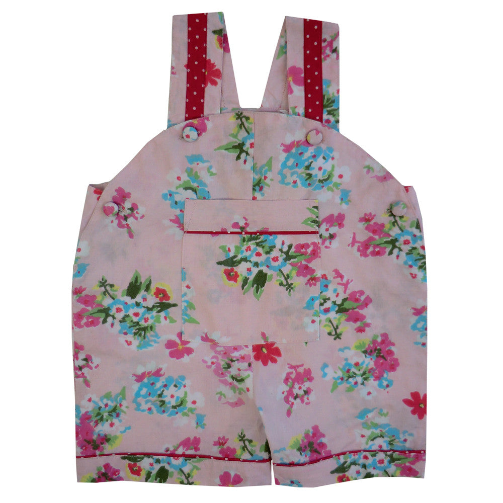 """Pink Floral"" Dungarees, PC-Powell Craft Uk, Putti Fine Furnishings"