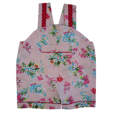 """Pink Floral"" Dungarees-Children's Clothing-PC-Powell Craft Uk-Age 6-12 Months-Putti Fine Furnishings"