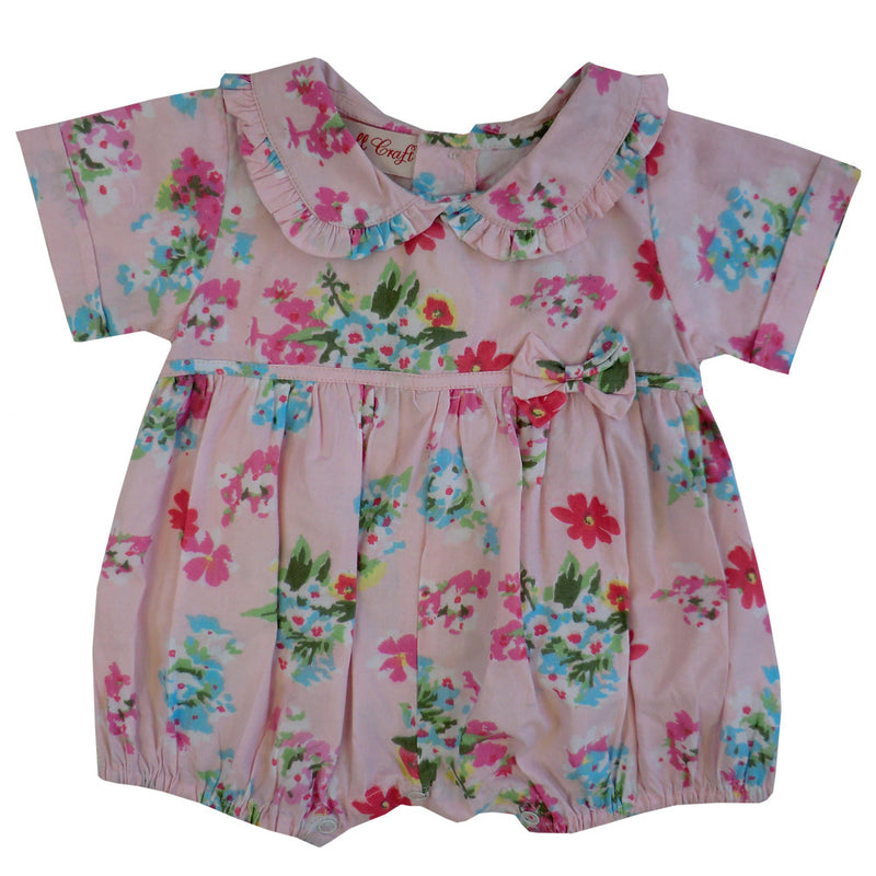 """Pink Floral"" Romper, PC-Powell Craft Uk, Putti Fine Furnishings"