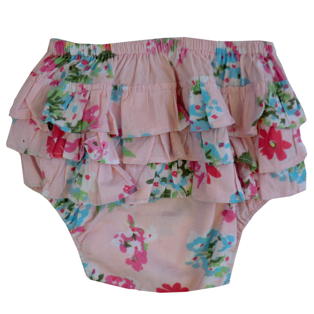 """Pink Floral"" Frilly Nickers"