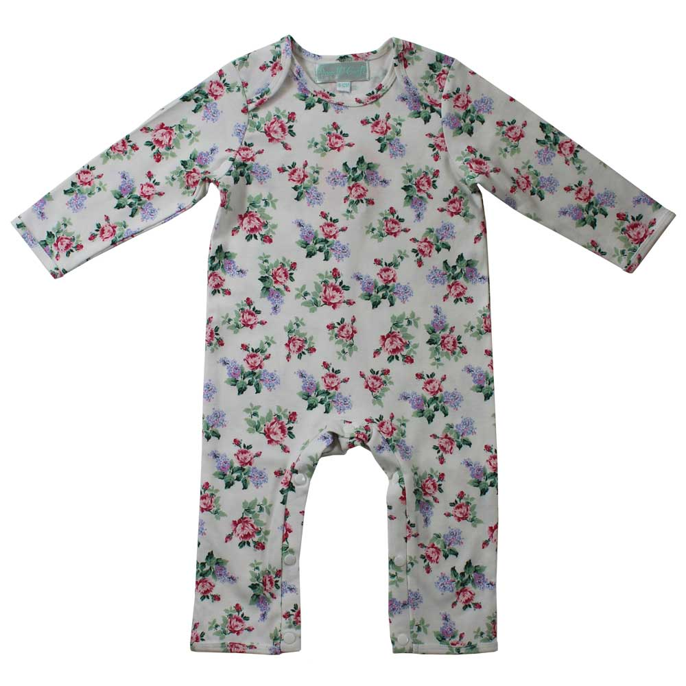 Powell Craft UK Floral Rose Print Jumpsuit | Le Petite Putti