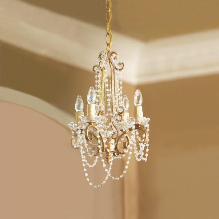 Gold Beaded Chandelier