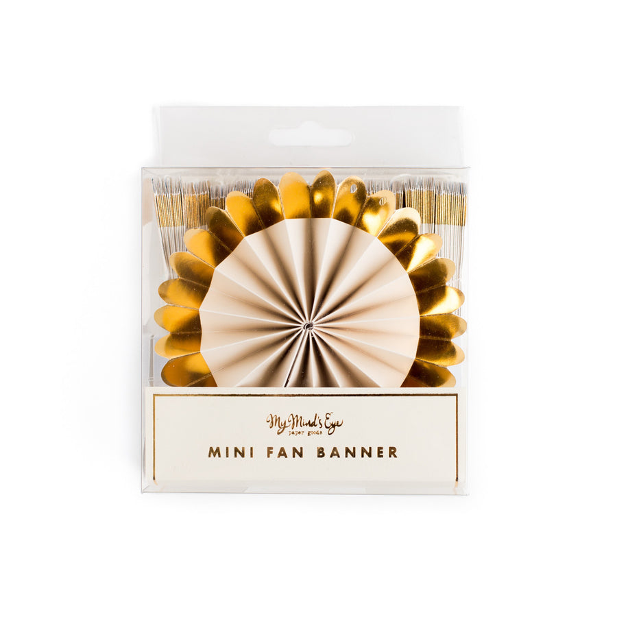 Gold Fancy Mini Fan Banner, My Mind's Eye, Putti Fine Furnishings