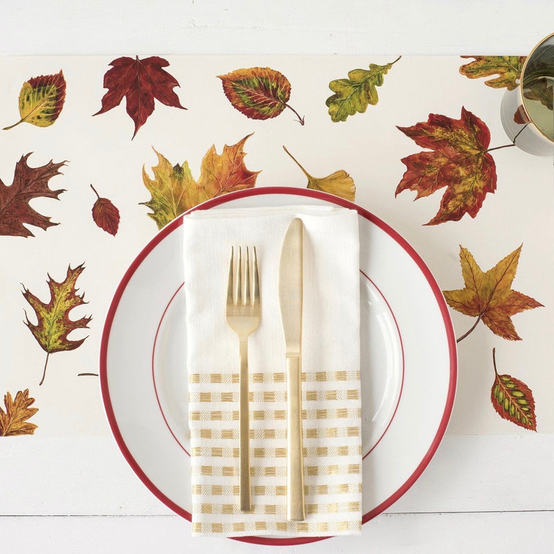 Hester & Cook Fall Foliage Paper Placemats - Putti Celebrations & Partyware Canada