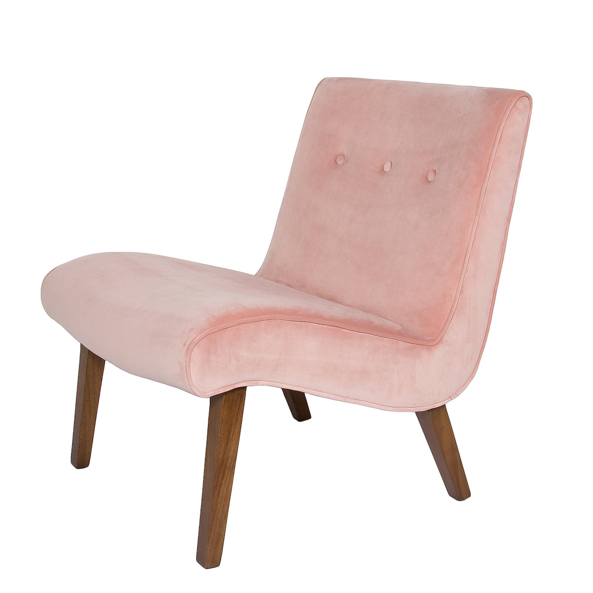 """Fifi"" Chair - Blush Velvet"