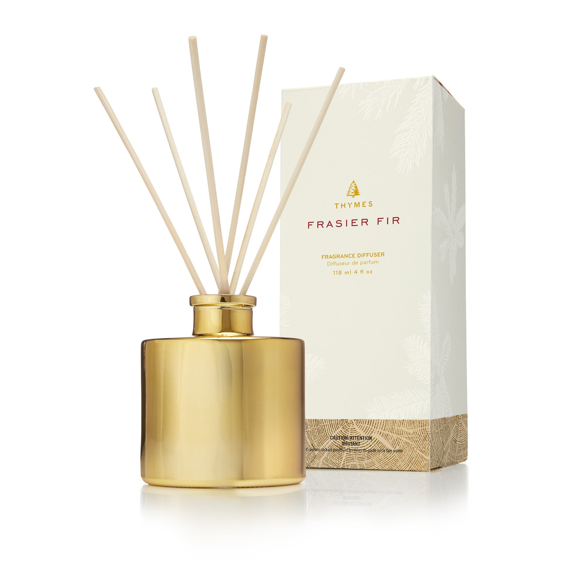 Thymes Frasier Gold Petite Diffuser - Putti Fine Furnishings Canada