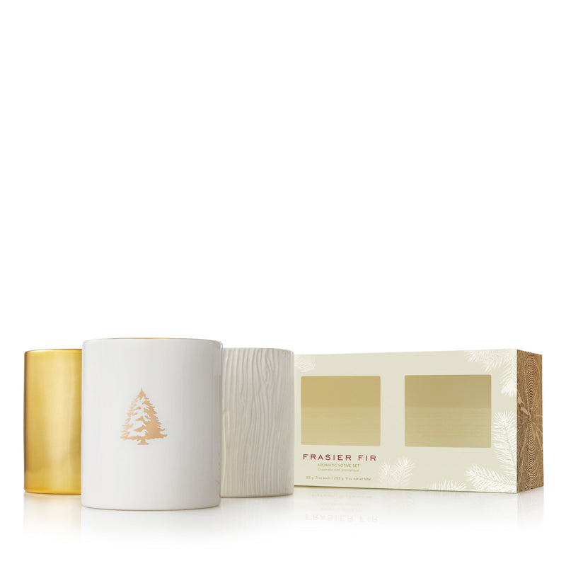 Thymes Frasier Gilded Trio Candle Set | Putti Fine Furnishings Canada