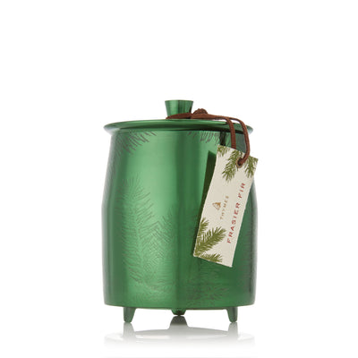 Thymes Frasier Fir Green Metal Tin Candle Large Putti Christmas Canada
