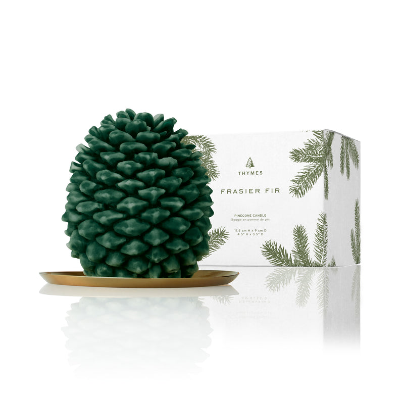 Thymes Frasier Fir Pinecone Petite Candle - Putti Canada