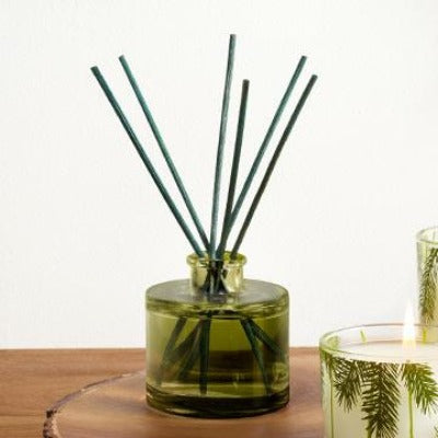 Thymes Frasier Green Glass Petite Diffuser
