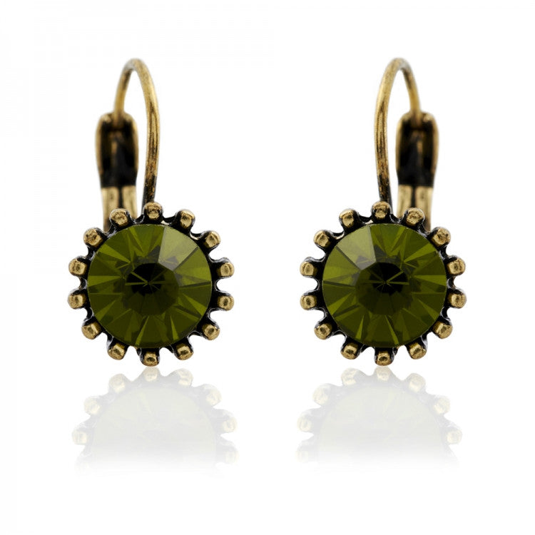 Lovett & Co. French Clip Earrings -Olivine