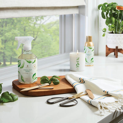 Thymes Fresh Cut Basil Countertop Spray | Putti Fine Furnishings Canada