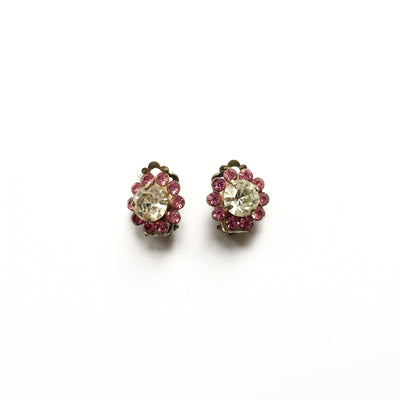 Vintage Pink Crystal Earrings, Vintage, Putti Fine Furnishings