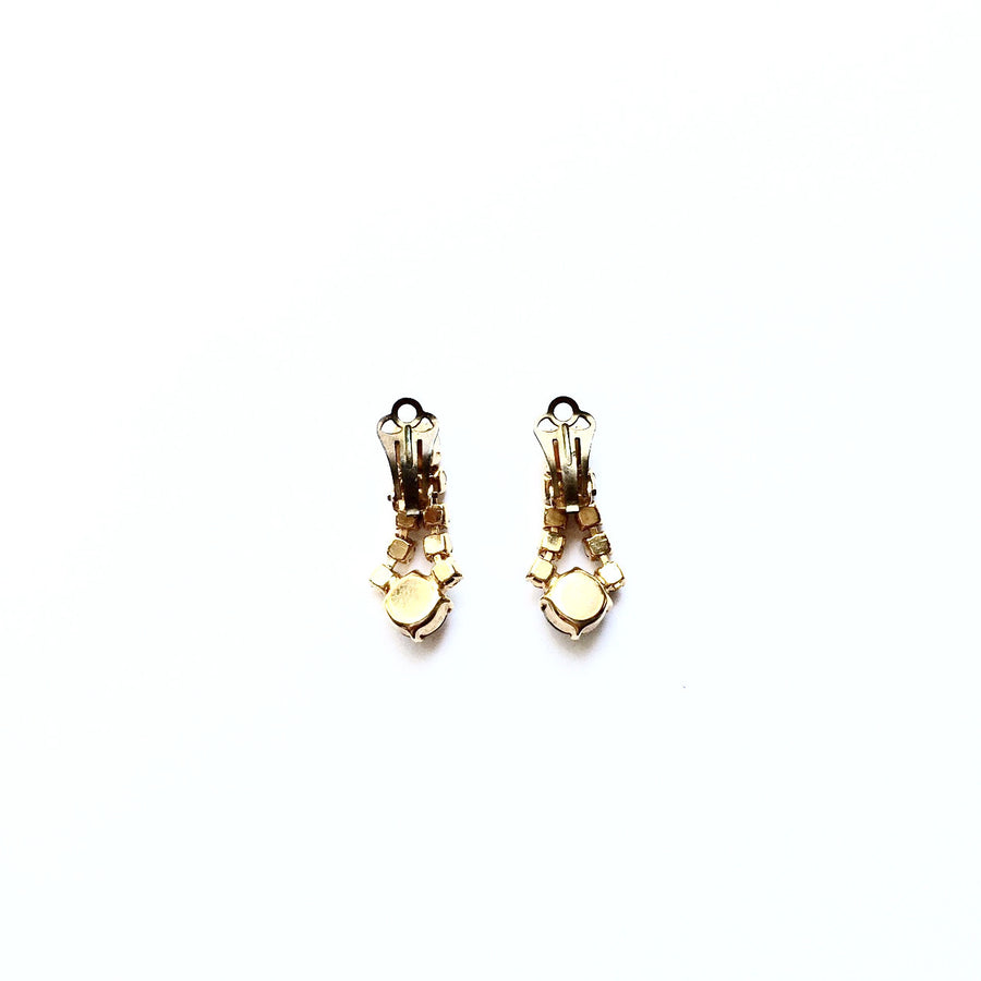 Vintage Crystal AB Drop Earrings, Vintage, Putti Fine Furnishings