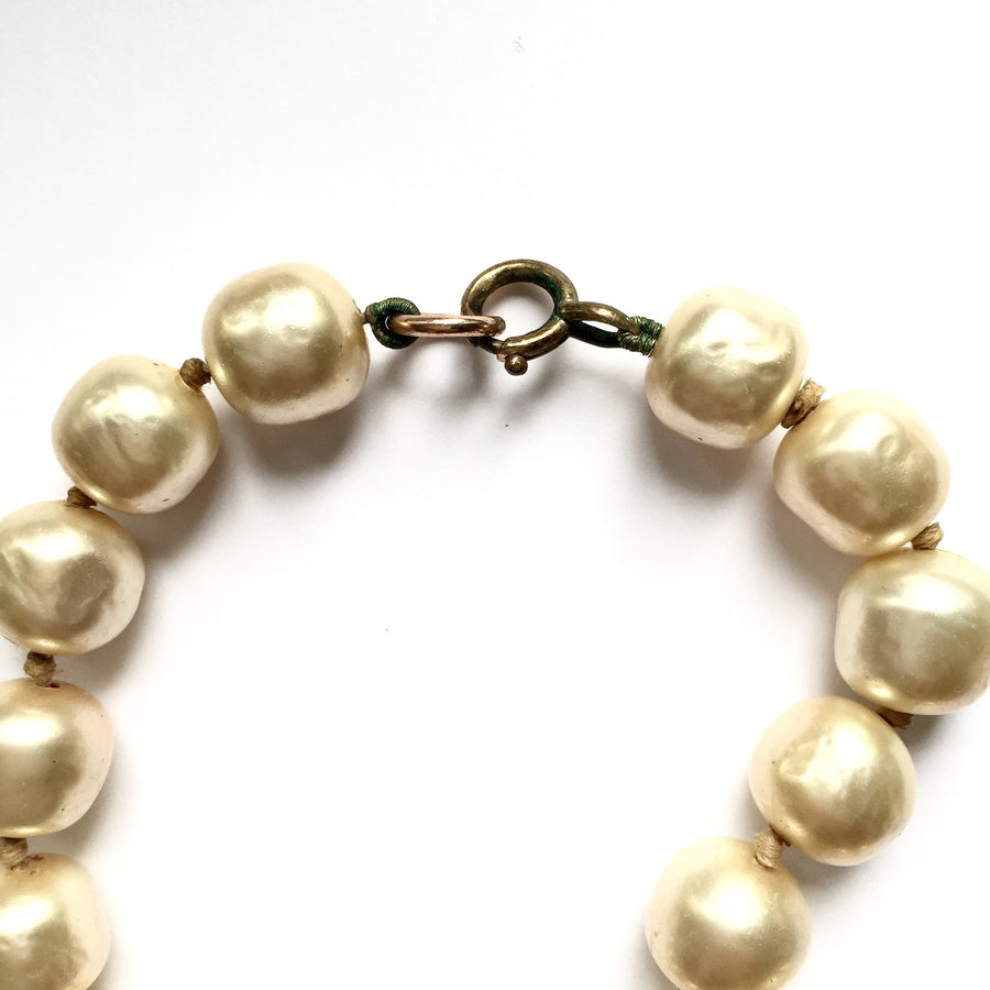 Vintage Cream Pearl Necklace