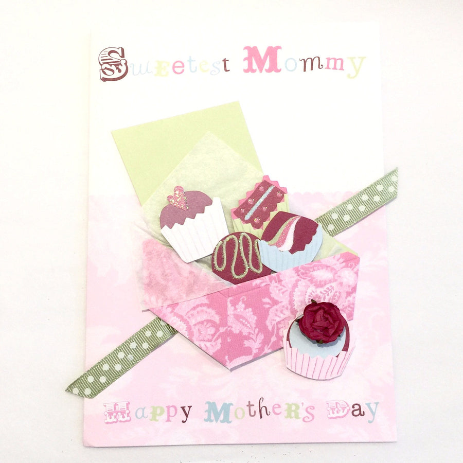 "Meri Meri ""Sweetest Mommy"" Chocolate Box Card"