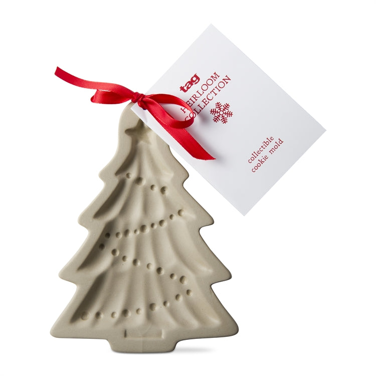 Stoneware Whimsy Christmas Tree Cookie Mold | Putti Christmas Baking