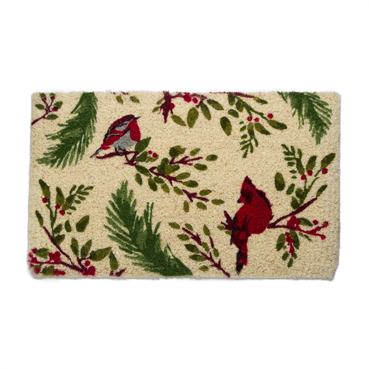 Birds & Berries Coir Doormat | Putti Christmas Celebrations Toronto Canada