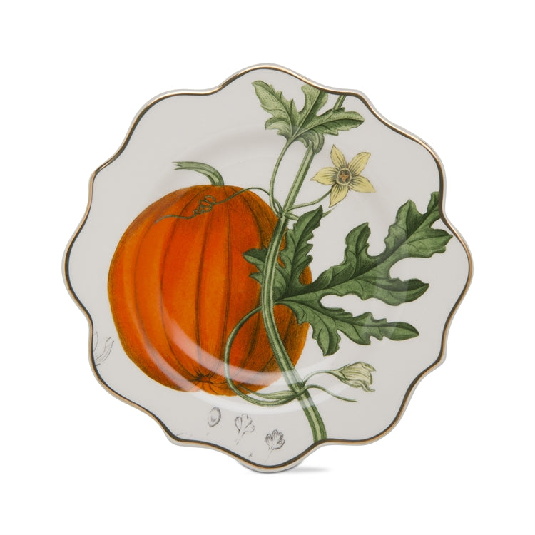 Archival Pumpkin Appetizer Plate | Thanksgiving Putti Fine Furnishings