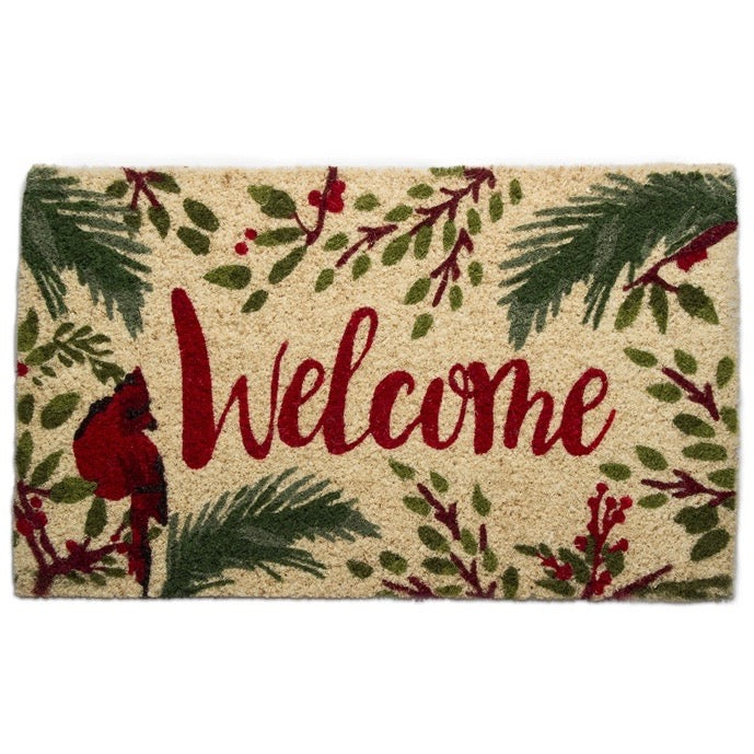"Tag Ltd. ""Welcome"" Cardinal Coir Doormat 
