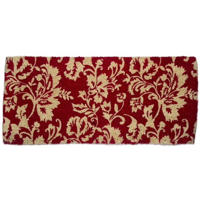 Isabella Red Damask Coir Estate Doormat